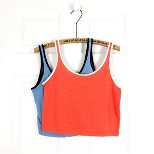 Topshop Cropped Y2K Tank Tops 90s Themed